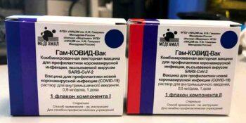 Гам-КОВИД-Вак, Спутник V фото упаковки